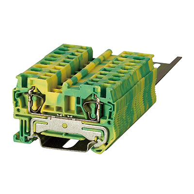 ST3-4JD Spring Ground-Earthed Terminal Block